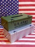 ミリタリーティッシュケース ARMYティッシュケース スチールティッシュケース アメリカン雑貨 雑貨屋サンブリッヂ