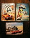 ルート66ブリキ看板 ROUTE66看板 NostalgicArtMerchandising アメリカ雑貨屋 サンブリッヂ