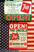 セブンアップ看板 アメリカンサイン オープンクローズ看板 7UP 7up アメリカ雑貨屋 サンブリッヂ セブンアップ通販