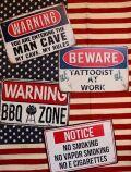 A4ブリキ看板 アメリカン注意サイン WARNINNG看板 看板通販 アメリカ雑貨屋 サンブリッヂ