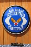 エアフォースライト U.S AIR FORCE ラウンドウォールランプ 壁掛けライト ガレージ アメリカ雑貨屋 サンブリッヂ エアフォース通販