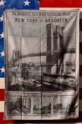 アメリカンタペストリー ブルックリン壁掛け ブルックリン橋 ラグマット アメリカ雑貨屋 サンブリッヂ アンティーク雑貨通販