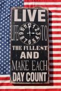 アンティーククロック ビンテージ風壁掛け時計  男前インテリア アメリカ雑貨屋 サンブリッヂ アメリカン雑貨通販