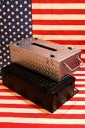 チェッカーティッシュケース スチールティシュケース アメリカンティッシュカバー アメリカ雑貨屋 サンブリッヂ