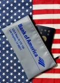 オブアメリカポーチ アメリカ銀行ポーチ デポジットバッグ パスポートケース アメリカ雑貨屋サンブリッヂ