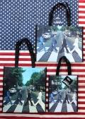 ビートルズビニールトートバッグ アビーロードバッグ ビートルズバッグ エコバッグ アメリカ雑貨屋 サンブリッヂ  通販商品