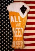 栓抜き看板 ビール看板栓抜き付き ハンギングボトルオープナー アメリカ雑貨屋 サンブリッヂ