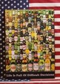 ビアウッドボード 世界のビール ビアガール アメリカ雑貨屋 サンブリッヂ