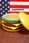 ハンバーガー コンテナ 小物入れ アクセケース 飴 レジン アメリカ雑貨通販 アメリカ雑貨屋 サンブリッヂ
