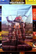 チョッパー バイク ハーレーラッグ タペストリー バナー ムーンアイズ マット アメリカ雑貨通販 アメリカ雑貨屋 サンブリッヂ