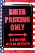 バイク看板 バイク駐車場 看板 パーキング看板  アメリカ雑貨 通販 アメリカ雑貨屋
