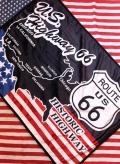 ルート66膝かけ クウォーターブランケット Quarter Blanket  ROUTE66 毛布 アメリカ雑貨屋 サンブリッヂ 通販