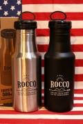 ROCCOワンタッチボトル350 ステンレスボトル ループ付き水筒 アウトドアボトル アメリカ雑貨屋 サンブリッヂ アメリカン雑貨通販