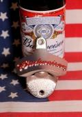 バドワイザー栓抜き バドワイザー壁栓抜き バドワイザーボトルオープナー バドワイザー雑貨通販 アメリカ雑貨屋 SUNBRIDGE