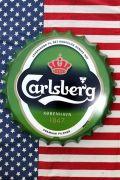 カールスバーグ看板 王冠看板 ボトルキャップ看板