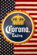 コロナ看板 王冠ボトルサイン Corona スチール看板 アメリカ雑貨屋 サンブリッヂ コロナ看板通販