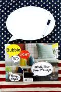 吹き出し ライトボックス メッセージライト ホワイトボード型 ディスプレイ アメリカライト通販 アメリカ雑貨屋 サンブリッヂ