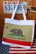 カリフォルニアトートバッグ カリフォルニア CALIFORNIA トートバッグ エコバッグ アメリカ雑貨屋 サンブリッヂ 通販