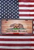 カリフォルニアサインプレート アメリカン看板 CARIFORNIAグッズ LA直輸入 アメリカ雑貨屋 サンブリッヂ