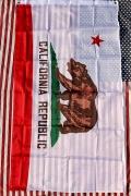 カリフォルニア州旗 カリフォルニアフラッグ タペストリー アウトドア日よけ アメリカ雑貨屋 サンブリッヂ