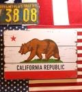 カリフォルニアビンテージサインボード 木製看板 アメリカ雑貨屋 サンブリッヂ