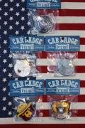カーバッジ レディキロカーバッジ AAAカーバッジ  スモーキーベアカーバッジ ナンバーに付ける サンブリッヂ アメリカ雑貨通販