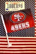 カーフラッグ アメフト SF  サンフランシスコフォーティナイナーズ 旗 フラッグ アメリカ雑貨通販 サンブリッヂ