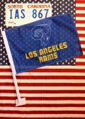 カーフラッグ アメフト ロサンゼルスラムス 旗 フラッグ アメリカ雑貨通販 サンブリッヂ