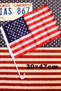 カーフラッグ 挟める旗 星条旗 アメリカ国旗 クリップ付 アメリカ雑貨通販 サンブリッヂ