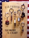カーパーツキーホルダー ディスクブレーキ サスペンション プラグ ピストン キャブレター アメリカ雑貨屋 サンブリッヂ 通販