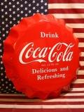 コカコーラ看板 ボトルキャップサイン コーラ瓶の蓋 アメリカ雑貨屋 サンブリッヂ