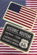 コイルマット 玄関マット PVC素材 ROUTE66 アメリカ国旗 アメリカ雑貨屋 サンブリッヂ 通販