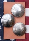 コインコンチョ レザーウォレットコンチョ レザークラフトコイン 1ドルコンチョ アメリカ雑貨屋 サンブリッヂ