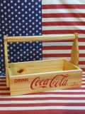 コカコーラ ウッドクレートウィズハンドル 木箱 持ち手付き COCA COLA アメリカ雑貨屋 サンブリッヂ