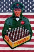 コーラブリキ看板 コーラ木箱看板 コーラデリバリーマン アメリカ雑貨屋 サンブリッヂ 通販