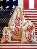コーラ巾着 コカコーラ巾着 巾着袋 アウトドア巾着 GOAUT アメリカ雑貨屋 サンブリッヂ