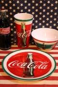 コカコーラプラ皿 コーラプラ食器 コーラボウル コーラタンブラー アメリカ雑貨屋通販 SUNBRIDGE