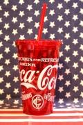 コカコーラポータブルウォールタンブラー コーラプラスチックカップ ストロー付きマグ アメリカ雑貨屋 サンブリッヂ 通販