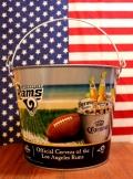 コロナLAラムズバケツ NFLRams コロナビールブリキバケツ アメリカ雑貨通販