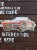 スチール看板 コルベットコンバーチブル Corvette Convertible アメリカ雑貨屋 SUNBRIDGE