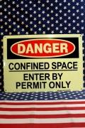 セキュリティ看板 危険看板 立入禁止看板 アメリカ雑貨屋 サンブリッヂ アメリカ雑貨通販