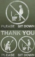 立小便ステンシルシート   立ちション禁止看板 ステンシル通販 アメリカ雑貨屋 サンブリッヂ