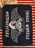 デニムタペストリー デニムバナー ステンシルインテリア トライクバイク旗 アメリカ雑貨通販 SUNBRIDGE 岩手雑貨屋