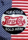 ペプシ看板 ペプシドーム看板 ラウンド看板 PEPSI アメリカ雑貨通販 コーラ雑貨通販 サンブリッヂ
