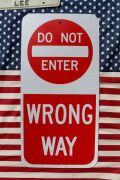 立入禁止看板  ロードサイン トラフィックサイン ハイウェイ看板 DO NOT ENTER アメリカ雑貨通販 サンブリッヂ 道路標識