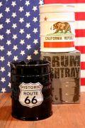 ドラム缶型灰皿 ルート66 カリフォルニア アメリカ雑貨屋 サンブリッヂ 灰皿通販