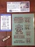 ドライステンシル DRY STENCIL スタンプ アメリカ雑貨 STENCIL 通販 サンブリッジ 岩手 雑貨 ROUTE66 MOTHER ROAD