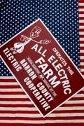 ALL ELECTRIC FARM看板 アメリカン特大看板世田谷ベース看板 アメリカ雑貨屋 サンブリッヂ