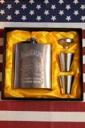 ジムビームフラスコセット スキットルJimBeam 携帯酒ボトル ウィスキーボトル アメリカ雑貨屋 サンブリッヂ