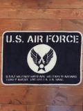 フロアーマット AIR FORCE エアフォース 濃いブルー アメリカ雑貨屋 サンブリッヂ
